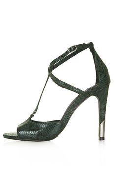 REGAL Snake-Effect High Heel Sandals