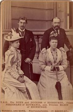 All sizes   Princess Marie of Edinburgh with her fiance Crown Prince of Romania and her parents   Flickr - Photo Sharing!
