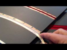 Laying slot car braid on a routed track - YouTube