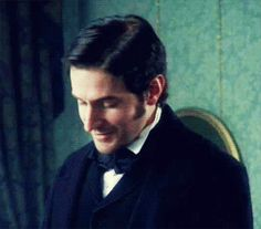 Richard Armitage as John Thornton in North and South, 2004 (GIF set) Elizabeth Gaskell, Richard Armitage, Best Love Stories, Love Story, North And South, John Thornton, Bbc Drama, Look Back At Me, Mr Darcy