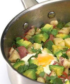 Potato, Egg, and Avocado Hash | Get the recipe for Potato, Egg, and Avocado Hash.
