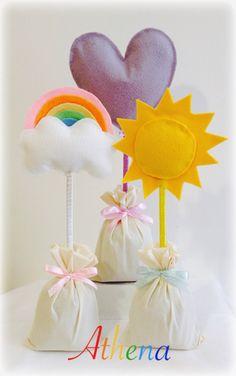 Arco-íris coração e sol  Festa Arco-íris                                                                                                                                                      Mais