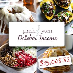 The Food Blog Money Making Experiment - October Results-- Ideas for monetizing your food blog. | Pinch of Yum