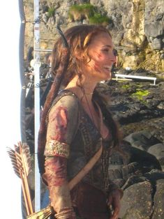 Isabel (Natalie Portman) behind the scenes of Your Highness (2011)
