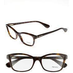 54df89d3706 Prada 52mm Optical Glasses (€280) ❤ liked on Polyvore featuring  accessories