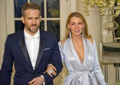 Blake Lively and Ryan Reynolds at White House State Dinner | POPSUGAR Celebrity