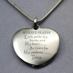 """Nurse's Prayer Lord, guide my hands and My heart.As I care for My patients Today. Great for nurse graduation gifts, nurse appreciation, holiday and birthdays. Maybe add in """"hope i dont kill anyone today"""" Nurse Retirement Gifts, Nurse Gifts, Nursing Graduation, Graduation Gifts, School Nursing, Nursing Schools, Graduation Ideas, Nurses Prayer, Nurse Love"""