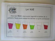 identifier le contenu par la vue puis vérifier par le gout