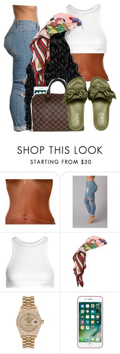 """""""1067"""" by tuhlayjuh ❤ liked on Polyvore featuring T By Alexander Wang, Gucci, Rolex and Louis Vuitton"""