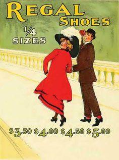 Regal Shoes 1910 - Mad Men Art: The 1891-1970 Vintage Advertisement Art Collection