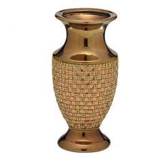 Vaso Cerâmica c/ Strass
