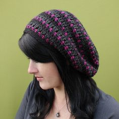 #Crochet slouch hat pattern for sale from @gleefulthings