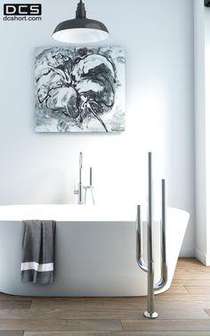 DCS Cactus, Heated floor mounted towel rail. www.dcshort.com