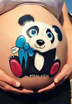 Discover recipes, home ideas, style inspiration and other ideas to try. Bump Painting, Pregnant Belly Painting, Belly Art, Panda Eyes, Belly Casting, Belly Bump, Face Painting Designs, Baby Belly, Animal Paintings