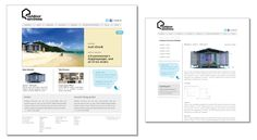 Web design proof - home page and internal page - for Outdoor Environs.  If pinning, please credit © the-summerhouse.com