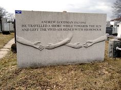 """Andrew Goodman (1943 - 1964) Civil rights worker murdered in Mississippi during Freedom Summer along with fellow activists James Chaney and Michael Schwerner, the story was told in the movie """"Mississippi Burning"""""""