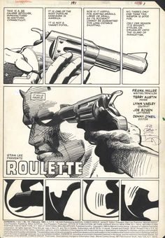 "BACK WHEN MILLER DEFINED EXCELLENCE IN STORYTELLING!!!  Daredevil ""Roulette"" by Frank Miller."