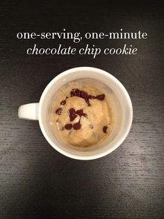 The One-Serving, One-Minute Cookie, Go ahead...it's okay..it's only one.. ;)
