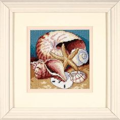 123stitch.com store for patterns: Shell Collage - Needlepoint Kit
