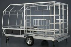 CampLite travel trailer aluminum structure and framing