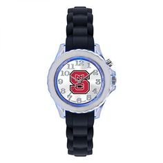NC State Wolfpack Youth Black Flash Watch