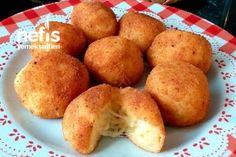 Πατατοκροκέτες γεμιστές με τυρί Greek Recipes, Muffin Recipes, Sweet Potato, Waffles, Food And Drink, Pasta, Potatoes, Cooking Recipes, Vegetables
