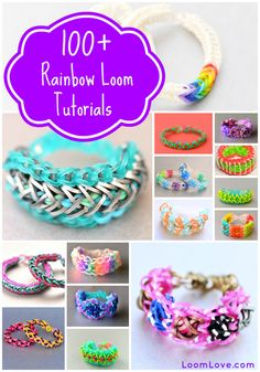 Find 100+ Rainbow Loom Tutorials at LoomLove.com!