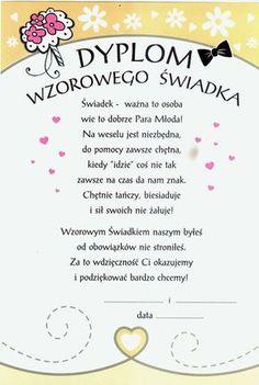 podziękowanie dla świadków - Szukaj w Google Autumn Wedding, Boho Wedding, Dream Wedding, Wedding Day, Marriage Decoration, Just Married, Weeding, Flowers In Hair, Big Day