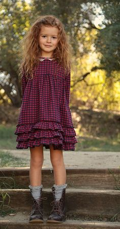 Winter Red Check Dress: Limited Edition blu pony vintage
