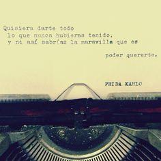 Frida habló ❤ #frida #kahlo #quote #love