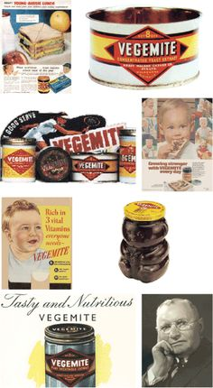 There's a reason over 22 million jars of VEGEMITE spread are sold every year and it's because there's no other concentrated spread out there full of Vitamin B. I have to admit. i can't stand it lol, but I do like Pro-mite! Vintage Advertisements, Vintage Ads, Retro Ads, Retro Recipes, Vintage Recipes, Vintage Food Posters, Australian Vintage, Golf Party, Food Advertising
