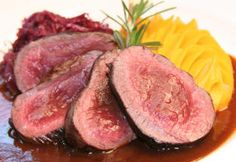 Chef's Featured Farm Raised Game Meat Dish. Wanna know the recipe?   Visit http://fossilfarmsostrich.com/chef_ofthe_month.htm#