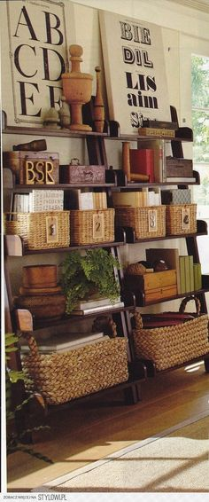 Love organizing and decorating with baskets.