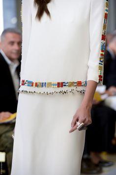 Декор от кутюр дизайн вышивка бисером низ планка рукава манжет