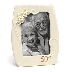 50th Anniversary Picture Frame from TopAnniversary.com