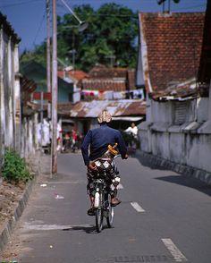Yogyakarta (Indonesia) - The Sultan's guard on a bike