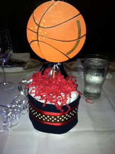 Sports Theme Baby Shower Mini Diaper Cake Table Centerpieces www.facebook.com/tophatsandtutusfrisco Jordan Baby Shower, Basketball Baby Shower, Baby Boy Shower, Basketball Birthday, Sports Centerpieces, Baby Shower Centerpieces, Table Centerpieces, Baby Shower Cakes, Baby Shower Themes