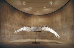 Anselm Kiefer. Buch mit Flügeln (Book with Wings), 1992-94  Lead, steel, and tin  Collection of the Modern Art Museum of Fort Worth, Museum purchase, Sid W. Richardson Foundation Endowment Fund. © Anselm Kiefer