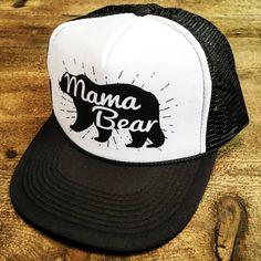 42c05e7e812 Mama Bear Funny Snapback Trucker Hat