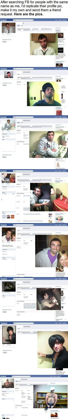 FB Profile Pic Replication.  Hilarious.