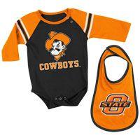 OSU Cowboys Onesie & Bib Set