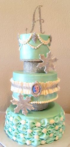 Frozen Cake ~ Elsa with a little bling factor