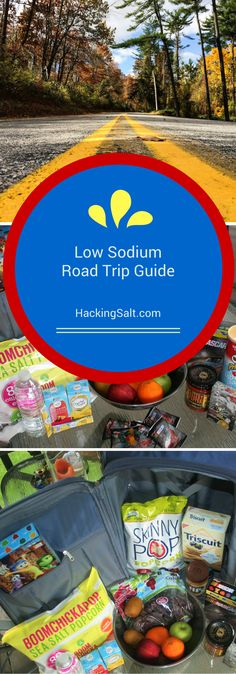 Ultimate Low Sodium Guide to Road Trips - What snacks to bring, where to eat. It's all here. #lowsodium #hearthealthy