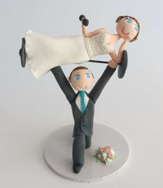 Wedding Cake Toppers Funny Personalized Mr& Mrs Bride & Groom Unique Cute