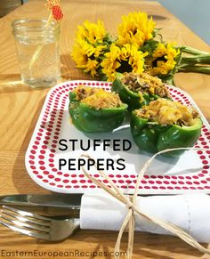 Baked peppers stuffed with rice and ground pork are hearty and delicious dinner…