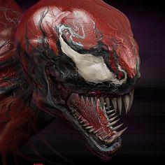 MARVEL COMICS' Symbiotic characters, VENOM, CARNAGE, and ANTIVENOM.  zBrush - Photoshop