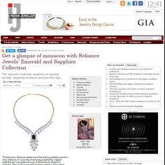 As seen in Indian Jeweller(IJ) Magazine  A glimpse of Monsoon with Emerald and Sapphire Collection  http://bit.ly/29xUgGC  www.reliancejewels.com  #reliancejewels #bethemoment #gold #earrings #necklace #jewellery #IndianJeweller #magazine #advertorial