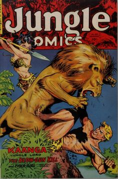 Jungle Comics # 159, 1953. cover by Maurice Whitman
