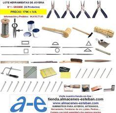 LOTE HERRAMIENTA JOYERO Nº 1 - GRANDE - tienda.almacenes-esteban.com