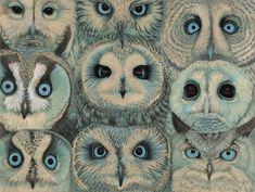"STRIGINE[adjective]of or pertaining to owls; owl-like.Etymology: from Latin strig- ""screech owl"", + English -ine, suffix for ""of or pertaining to, like"". Art And Illustration, Nature Illustrations, Magazine Illustration, Art Visage, Owl Art, Pics Art, Surrealism, Artsy, Sketches"